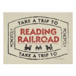 Take a Trip to Reading Railroad Posters