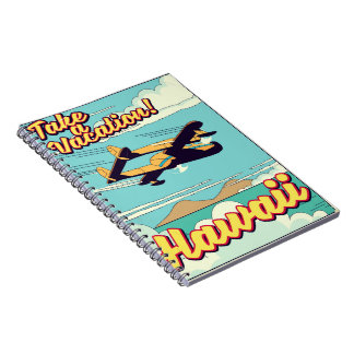 Take a vacation! Hawaii travel cartoon Notebook