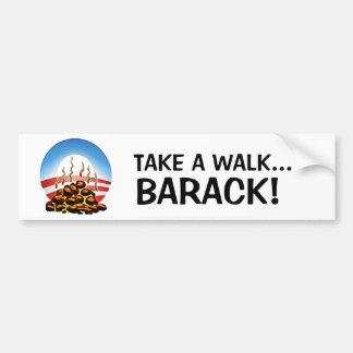 Take a walk Barack Bumper Sticker