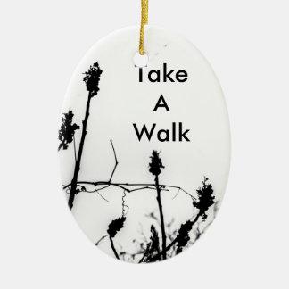 Take A Walk Ceramic Oval Decoration