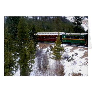 Take A Winter Ride On The Georgetown Loop Railroad Card