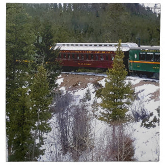 Take A Winter Ride On The Georgetown Loop Railroad Napkin