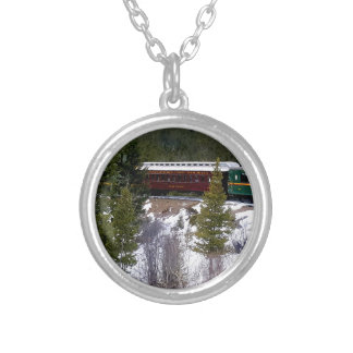 Take A Winter Ride On The Georgetown Loop Railroad Silver Plated Necklace