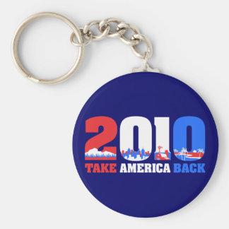 Take America Back 2010 Basic Round Button Key Ring