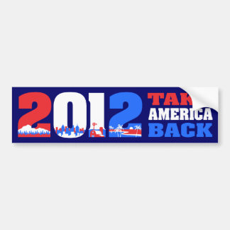 Take America Back 2012 Car Bumper Sticker