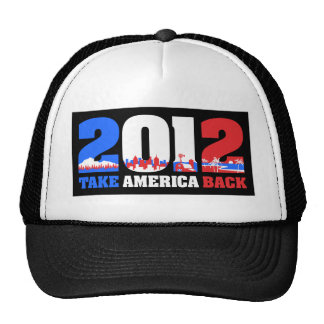 Take America Back 2012 Hats