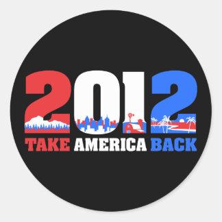 Take America Back 2012 Stickers
