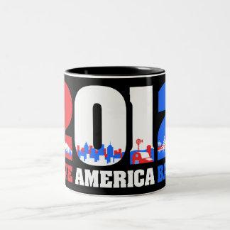Take America Back 2012 Two-Tone Coffee Mug