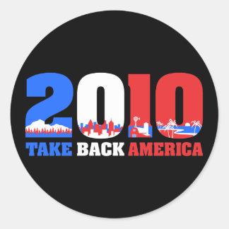 Take Back America 2010 Classic Round Sticker