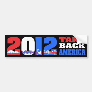 Take Back America 2012 Car Bumper Sticker