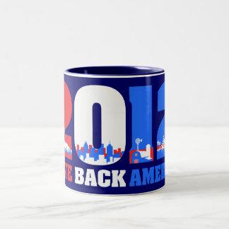 Take Back America 2012 Two-Tone Mug