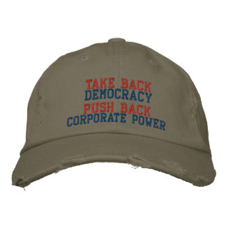 TAKE BACK DEMOCRACY EMBROIDERED BASEBALL CAP