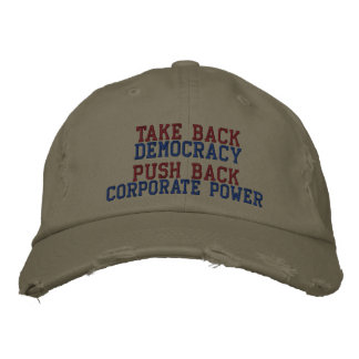 TAKE BACK DEMOCRACY EMBROIDERED HATS