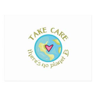 TAKE CARE NO PLANET B POST CARD