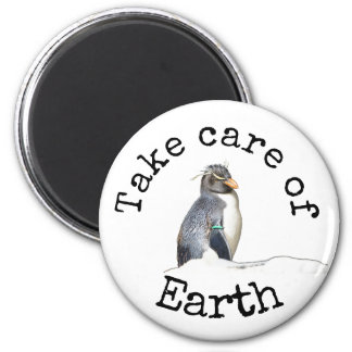 Take care of Earth Penguin magnet
