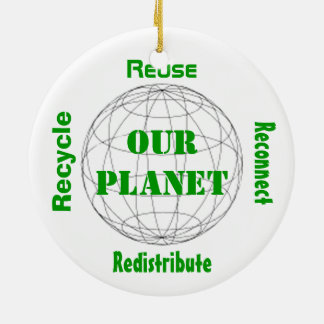 Take Care of Our Planet Round Ceramic Decoration
