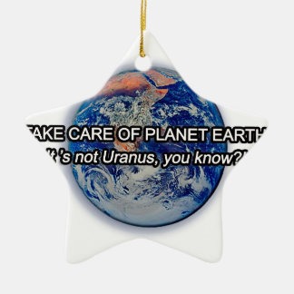 Take Care of Planet Earth! Ceramic Star Decoration