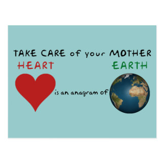 Take care of your mother earth postcard