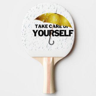 take care ping pong paddle