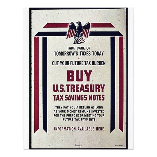 Take Care Tomorrow Taxes Today Flyer