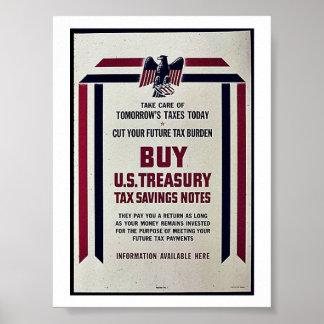 Take Care Tomorrow Taxes Today Print