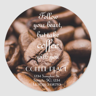 Take coffee with you // address label