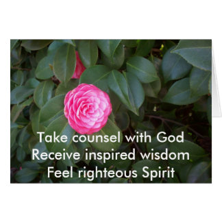 Take Counsel With God Card