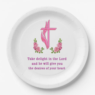 take delight in the Lord Paper Plate