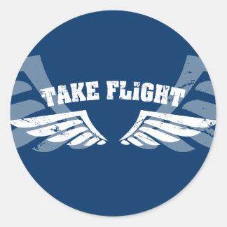 Take Flight Aviation Wings Stickers