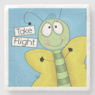 Take Flight Butterfly Stone Coaster