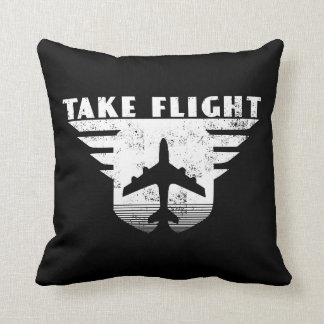Take Flight pilot aircraft home couch throw pillow