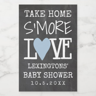 Take Home S'More Love Baby Shower Chalkboard Look Food Label