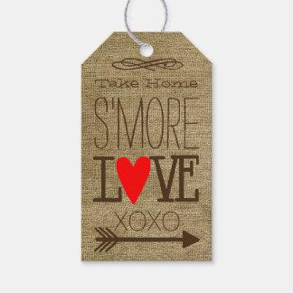 Take Home S'more Love Burlap Guest Favor