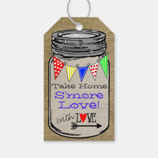 Take Home S'more Love Colorful Bunting on Burlap