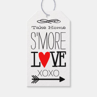 Take Home S'more Love Guest Favor Typography