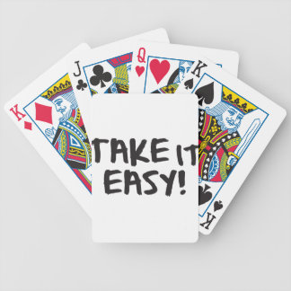 Take it Easy Bicycle Playing Cards