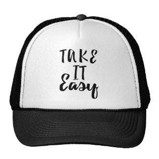 take-it-easy cap
