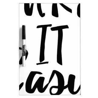take-it-easy dry erase whiteboard