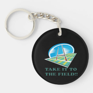 Take It To The Field Single-Sided Round Acrylic Key Ring