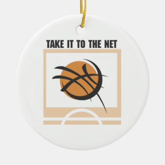 Take it to the Net T-shirts and Gifts Round Ceramic Decoration