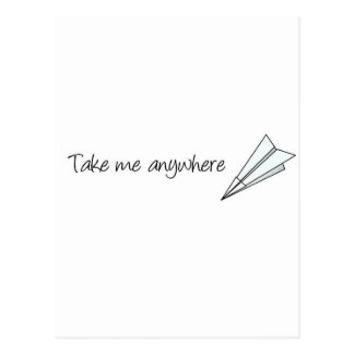 Take me anywhere postcard