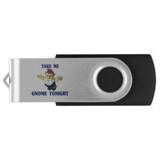 Take Me Gnome Tonight Swivel USB 2.0 Flash Drive