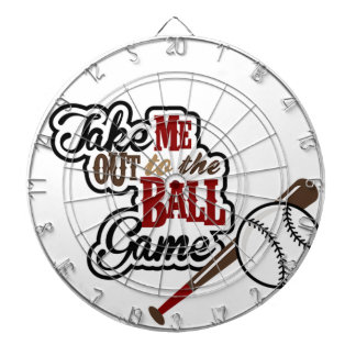 Take Me Out To The Ball Game design Dart Board