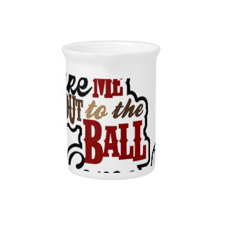 Take Me Out To The Ball Game design Pitcher