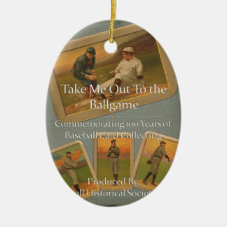 Take Me Out To the Ballgame Ceramic Oval Decoration