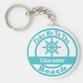 Take Me To Clearwater Beach Key Ring