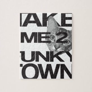 Take Me To Funky Town Cat Jigsaw Puzzle