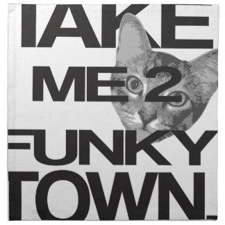 Take Me To Funky Town Cat Napkin