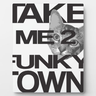 Take Me To Funky Town Cat Plaque