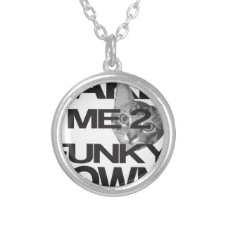 Take Me To Funky Town Cat Silver Plated Necklace